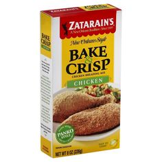Zatarain's Bake and Crisp Chicken Oven Baked 8 Oz (Pack of ** Check this awesome product by going to the link at the image. Oven Chicken, Baked Chicken, Gourmet Recipes, Dog Food Recipes, How To Make Bread, Bread Crumbs, Oven Baked, Baking Ingredients, Crisp