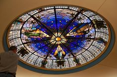 Magnificent stained glass ceiling