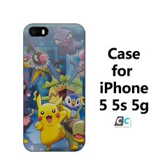 ab66 pokemons friends anime coque Hard Black Case Cover Shell Coque for iPhone 4 4s 4g 5 5s 5g 5c 6 6g 6 Plus