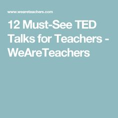 Hoping to reinvigorate your love of teaching? One these TED talks for teachers may be just the inspiration or thought-provoking you need. School Leadership, Leadership Activities, Teaching Activities, Ted Talks For Teachers, We Are Teachers, Teacher Workshops, Teacher Resources, Learning Websites For Kids, High School Reading
