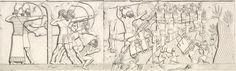 Guerreiros assírios sitiando e atacando a cidade de Panzish, 715 a.c