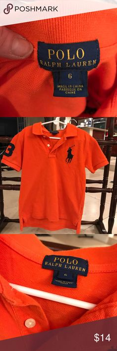 Polo Ralph Lauren orange  polo shirt Polo Ralph Lauren orange  polo shirt! Bundle and save .....  Also please see my love notes and ratings and shop with confidence!  Also you can Make reasonable offfer Bieber eebrt if only only buying one item and making Offer - that's alittle rough for me!    do work full time and take pride in care packaging and making my poshers happier when possible!   Also it takes alot of work & time  packaging items successfully! ❤️thank you for your understanding…