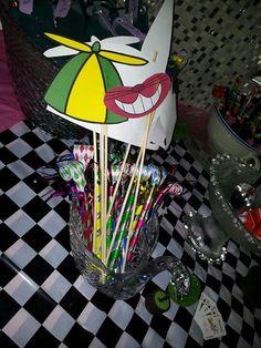 Alice in wonderland tea party photo props