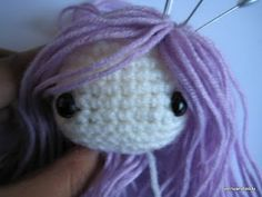 Crochet Patterns Galore - How to attach hair on amigurumi dolls Crochet Amigurumi, Amigurumi Doll, Amigurumi Patterns, Diy Crochet, Crochet Crafts, Crochet Dolls, Yarn Crafts, Crochet Baby, Crochet Projects