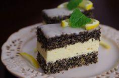 Makovo-citrónové rezy Czech Recipes, Ethnic Recipes, Cake Recipes, Dessert Recipes, Oreo Cupcakes, Pavlova, Nutella, Cheesecake, Food And Drink