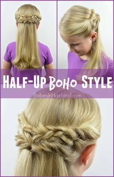 Half-Up Boho Style from BabesInHairland.com #boho #hair #boho-chic #hairstyle #braids