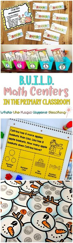 Where the Magic Happens: BUILD Math Centers in the Primary Classroom  Great information on why BUILD math centers is a great organizational and instructional tool for your guided math block.  #2ndgrademath #guidedmath #mathcenters #mathworkshop #secondgrademath