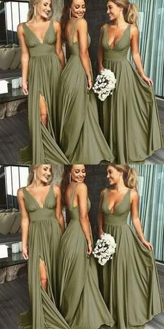 May 2020 - Sexy A-line Side Slit Long Burgundy Bridesmaid Dresses, Cheap Bridesmaid Burgundy Bridesmaid Dresses Cheap, Wedding Bridesmaid Dresses, Wedding Gowns, Green Wedding Dresses, Party Dresses, The Dress, Marie, Dream Wedding, Fall Wedding