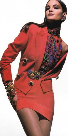 Claudia Mason for Gianni Versace Spring / Summer 1991