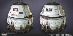 Call of Duty: Advanced Warfare | Orbital Care Package Pod, Katie Sabin on ArtStation at https://www.artstation.com/artwork/call-of-duty-ghosts-jet-blast-deflector-panels