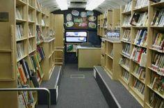 Inside a book truck