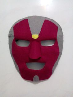 Vision felt mask new version by Dinofancy craft