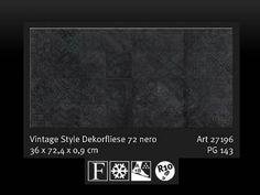 Bodenfliese-Dekorfliese-SKP-Italian-Style-Vintage-72-Nero-27196-36-72-Neuheit