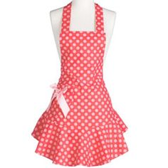 Jessie Steele Apron Josephine Red & Pink Polka Dot:Shop our Mother's Day Last-Minute Gift Boutique! @Sarah Chintomby Nasafi Grayce #laylagrayce #giftboutique #mothersday