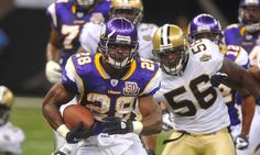 Adrian Peterson dons Saints uniform for first time = While Adrian Peterson has been affiliated with the New Orleans Saints for more than a month now, today marked the first time he looked like one. Possibly for some promotional material, Peterson put on a.....