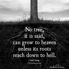 Fake People Quotes : No Tree, It Is Said, Can Grow To Heaven Unless Its Roots Reach Down To Hell - Famous Quotes Network : Explore & Discover the best and the most trending Quotes and Sayings Around the world The Words, Tree Of Life Quotes, Quotes About Trees, Quotes About Animals, Quotes About Nature, Hell Quotes, People Quotes, Citation Force, Carl Jung Quotes