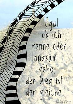 Rennen oder Gehen - der Weg ist der gleiche, Lettering Card, Quote Art, Word Art, Statements, Zitate, Sprüche, Karten