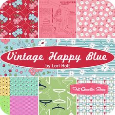 Vintage Happy Blue One Yard Pack Lori Holt for Riley Blake Designs