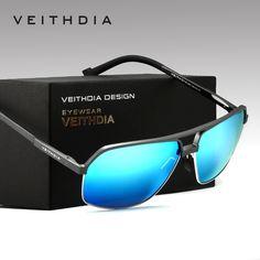 78783453a65628 VEITHDIA Men s Aluminum Magnesium Alloy Polarized Sunglasses Men Square  Vintage Male Sun glasses Eyewear Accessories Google