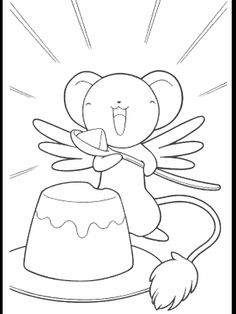 cardcaptor coloring pages google search anime coloring pages