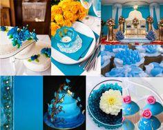 A rainbow of wedding ideas. I so want the cake