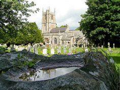 Reflection at St James Avebury, Wiltshire, England (Amethinah) Tags: uk greatbritain england reflection church unitedkingdom wiltshire avebury stjames 2007 stjameschurch wetreflection stjamesavebury