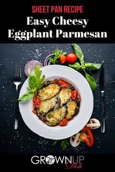 Say goodbye to mushy eggplant. This Easy Cheesy Sheet Pan Eggplant Parmesan ensures that every bite is the perfect mix of crunchy, saucy and cheesy goodness! | #eggplant #eggplantrecipe #eggplantparm #eggplantparmesan #sheetpansupper #bakedeggplant #ketorecipe #vegetarianrecipe #cheesyrecipe #eggplantparmrecipe Cheesy Recipes, Low Carb Recipes, Real Food Recipes, Vegetarian Recipes, Sheet Pan Suppers, Parmesan Recipes, Eggplant Parmesan, Eggplant Recipes, Vegetarian Breakfast