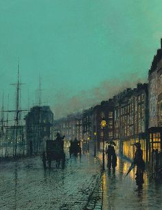 """Shipping on the Clyde"" by John Atkinson Grimshaw, 1881."