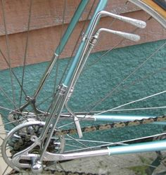 """""""Cambio Corsa"""" The world's first bicycle derailleur and quick-release hub, invented by Tullio Campagnolo after losing a race from frozen fingers and frozen axle nuts. c 1940"""