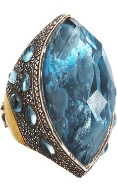 Sevan Bicakci Dolphin Carved Blue Topaz #Ring #nowthatsaring