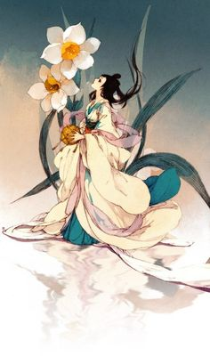 Chinese Flower Fairy    (artist unknown at this time)