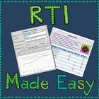 Monitor multiple student's RTI and PMP's with this easy to use Excel spreadsheet that generates graphs and organizes data.How it works: First y...