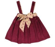 60% OFF! Je Suis en CP Red Corduroy Dress for Girl and Baby Girl Fashion - Designer: Je Suis en CP! at claradeparis.com