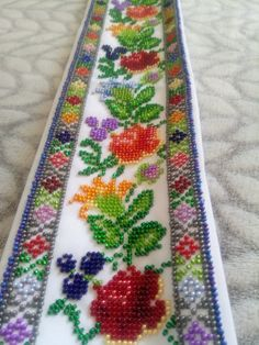 Belt with beaded embroidery. Belt with flowers, Hand embroidered belt floral, fashion belts, beaded corset womens belts Beaded Embroidery, Hand Embroidery, Embroidery Fashion, Broderie Bargello, Beaded Collar, Beaded Belts, Fashion Belts, Floral Fashion, Belts For Women