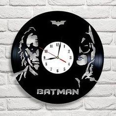Batman & Joker new design vinyl record clock white ] [ * ], in [Home, Furniture & DIY, Clocks, Wall Clocks | eBay