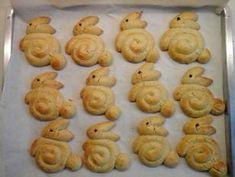 Κουλουράκια Πασχαλινά Κουνελάκια συνταγή από Nέλλη Καρδαρά - Cookpad Creative Food, Food Videos, Biscuits, Arts And Crafts, Easter, Cooking, Greek, Link, Pastries