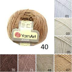 YarnArt JEANS, brown beige pattern yarn, cotton yarn, crochet cotton... (250 RUB) ❤ liked on Polyvore featuring jeans, beige jeans, brown jeans, patterned jeans, knit jeans and crochet jeans