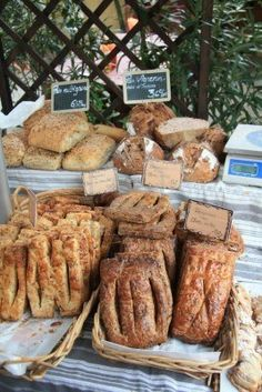 Traditional French bread in a local market in Bédoin, France