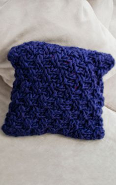 Hand Knitted Wool Cushion | DIY Home Deco Knitting Kit - Sake Cushion by We Are Knitters