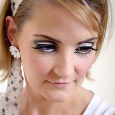 Sixties style makeup