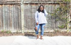 The Blue Stripped Shirt — Beverly Kesse Stripped Shirt, Plus Size Fashion, Pants, Blue, Shirts, Style, Striped Jersey, Trouser Pants, Swag