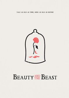 Beauty and the Beast minimalist poster print. ************************************ PROMOTION! BUY 2 GET 1 FREE! Simply add 2 prints to your