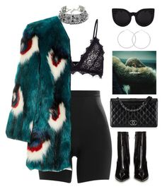 """""""God Complex"""" by mikaylaperrine ❤ liked on Polyvore featuring SPANX, Child Of Wild, Anine Bing, Meadham Kirchhoff, Balenciaga, Chanel and Delalle"""