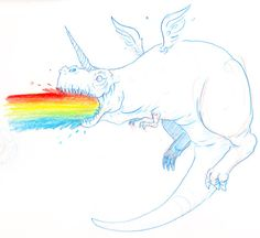 funny unicorn | Unicorns Barf Rainbows - Funny unicorn comic ...