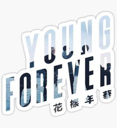 BTS Young Forever Logo Sticker