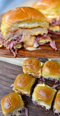 We're making these delicious and cheesy Slow Cooker Corned Beef Reuben Sliders for today's festivities. patricks day dinner corned beef Slow Cooker Corned Beef Reuben Sliders - A Southern Soul Corned Beef In Oven, Homemade Corned Beef, Corned Beef Sandwich, Slow Cooker Corned Beef, Corned Beef Brisket, Corned Beef Recipes, St Patrick's Day Appetizers, Beef Appetizers, Crockpot Cabbage Recipes