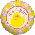 IT'S Its A GIRL DUCK Rubber Ducky BABY Shower Balloon on eBay!