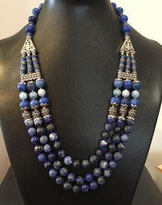 Lapis lazuli, calcedônia e jade