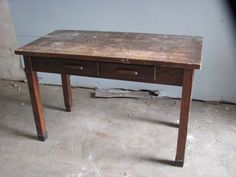 Utility Table, 2 Drawer from Black Dog Salvage