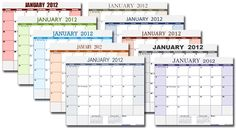 With a single Excel calendar template (XLSX version), you can change the colors and fonts of the calendar by just changing the theme.